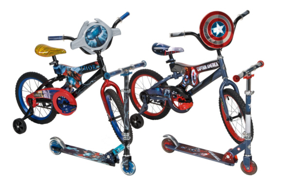 Huffy Thor Captain America Bike and Scooters