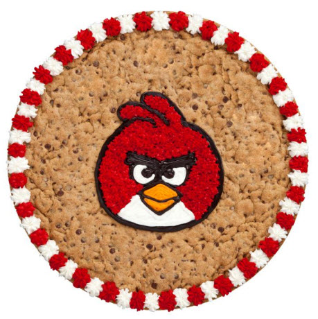 Angry Birds cookie cake at Mrs. Fields
