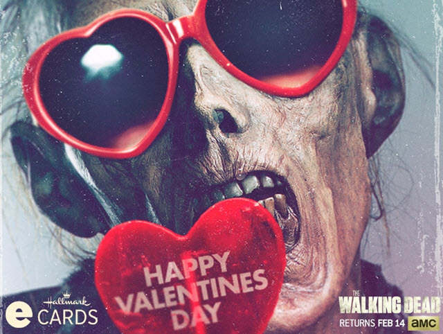 Hallmark Launches The Walking Dead Valentine's Day eCards